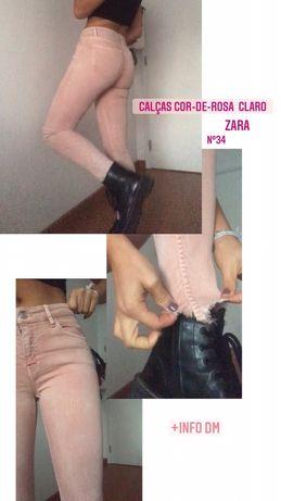 Calcas rosa Zara