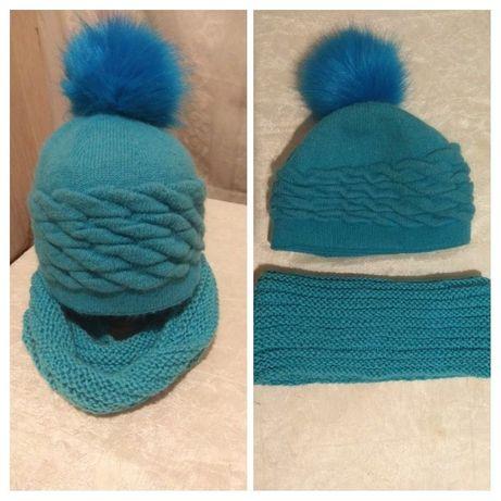 Зимняя шапка + баф