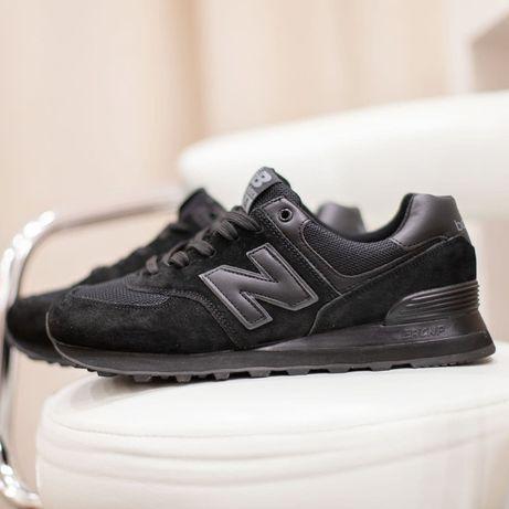 3222 New Balance 574 чёрные кроссовки нью беленс мужские ТОП качест