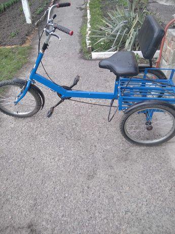 Продам Б у трёхколёсный велосипед для взрослых инвалидов и подростков
