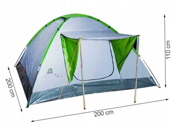 Namiot Turystyczny 4-Osobowy Camping Iglo + Daszek, Wysyłka gratis !