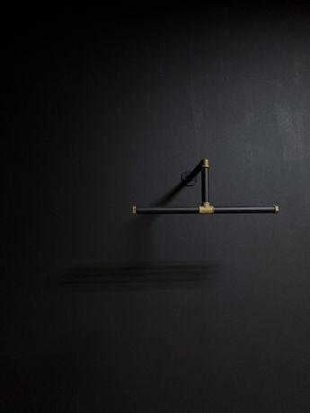 Вешалка лофт для одежды на стену
