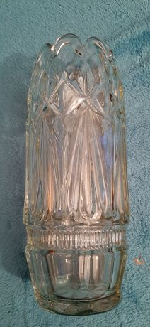 Stary duży wazon szklo przedwojenne  art deco  Huta Hortensja