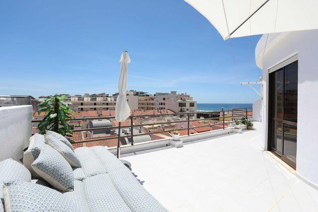 Apt T2 na Costa da Caparica com terraço e vista mar