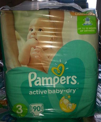 Pampers Active Baby Dry Pieluchy 3 MIDI 90 sztuk w paczce Sklep Łódź