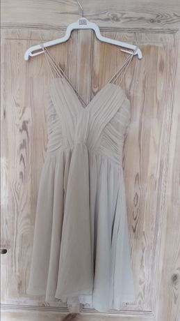 Beżowa sukienka rozmiar M H&M