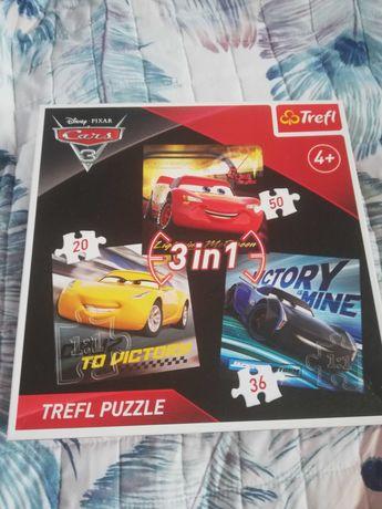 Puzzle Trefl Zygzak MCQueen 4+ 3w1