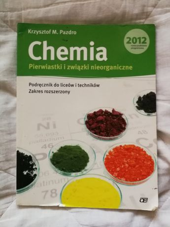 Podręcznik chemia pazdro pierwiastki i związki nieorganiczne