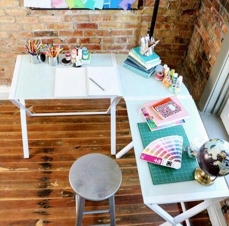 Biurko narożne szkło hartowane białe