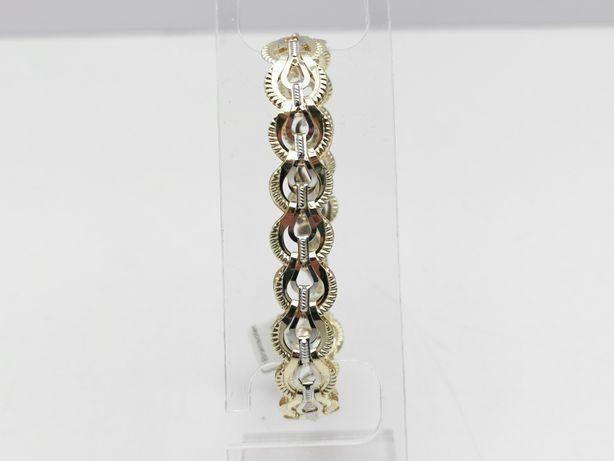 Piękna złota bransoletka p585 10,09g LOMBARD66