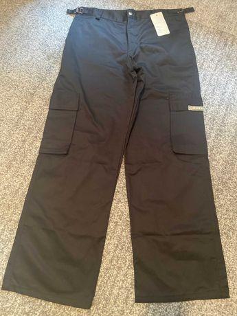 Military czarne spodnie do pracy i na co dzień