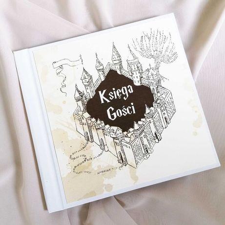 Piękna księga gości na wesele w stylu Harrego Pottera