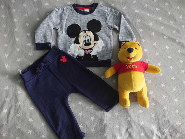 Dresy, komplet spodnie i bluza 74 Myszka Mickie Disney C&A. Jak Nowe.