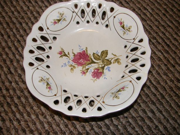 Porcelana piękna miska ozdobna ażury Heviran Keramika Pirson