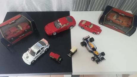 Ferrari miniatura burago, corgi F1 Ayrton senna