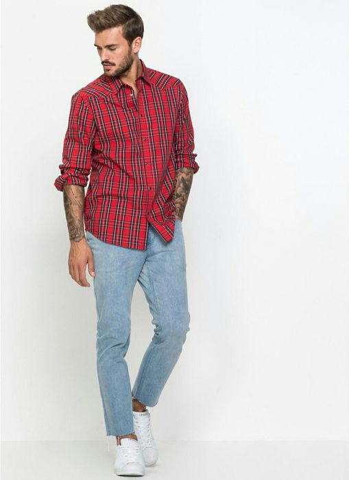 Nowe męskie spodnie jeans jasne rozmiar M 32 wzrost ok 170 Częstochowa - image 1