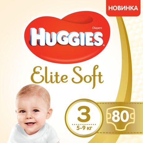 Подгузники Huggies Elite Soft размер 3, 5-9 кг, 80 шт