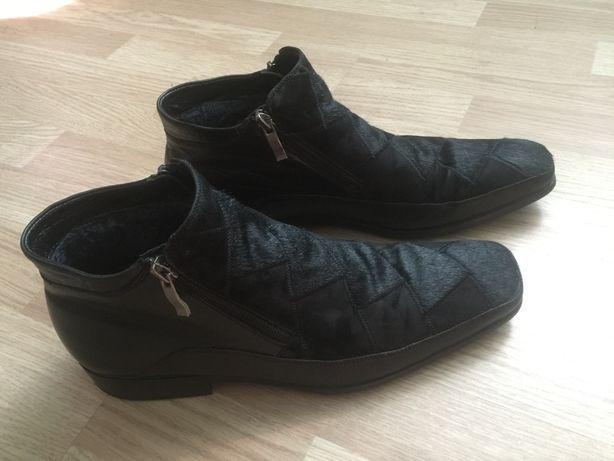Кожаные сапоги. Ботинки. На меху.