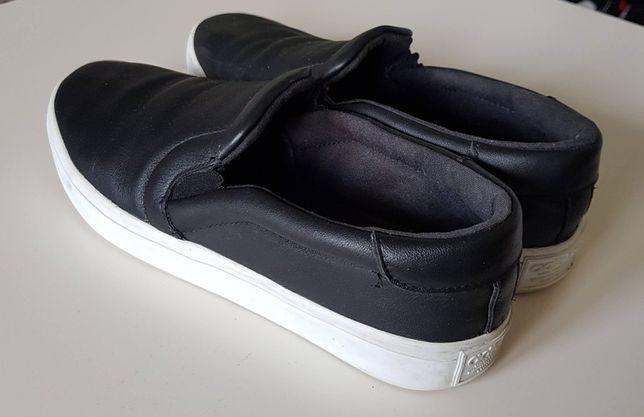 Buty ADIDAS slip on wsuwane czarne jak nowe 40 2/3 skóra