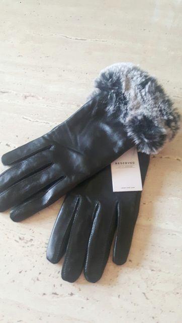 NOWE Skórzane rękawiczki Reserved