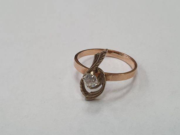 Klasyczny złoty pierścionek damski/ Retro/ 585/ 2.2 gram/ R13/ Gdynia