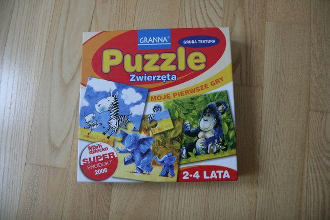 puzzle zwierzęta x4