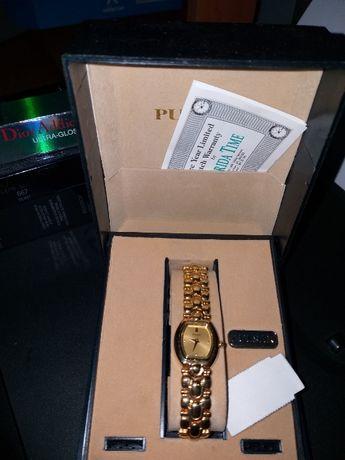 Продам новые винтажные часы pulsar золото в коробке