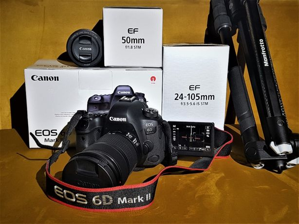 Canon EOS 6D MARK II 50mm 1.8 24-105mm manfrotto