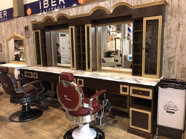 Mobiliario barbeiro cabeleireiro por fabrico por medida