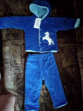 Продам детский новый теплый, зимний костюмчик