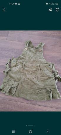 Sukienka sztruksowa 62 68