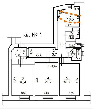 Сдам квартиру 90 м2 под закрытый офис ул. Осипова