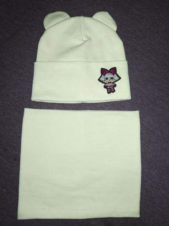 Комплект шапка + хамут Деми демисезонный 44-46 см
