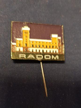 nr424 Radom odznaka plakietka zapinka wpinka kolekcja zbiory pamiątka