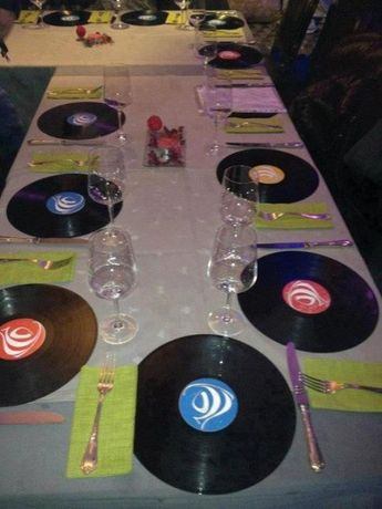 Marcadoras em disco Vinil LP - 12 Unidades