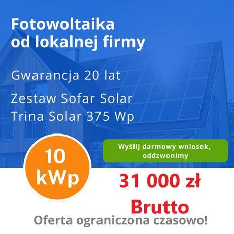 Fotowoltaika od lokalnej firmy. 10kW 31 000zł 5kW 18 000 zł