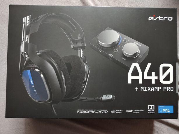 Słuchawki gamingowe Ps 4 Astro A40 +mixamp pro nowe