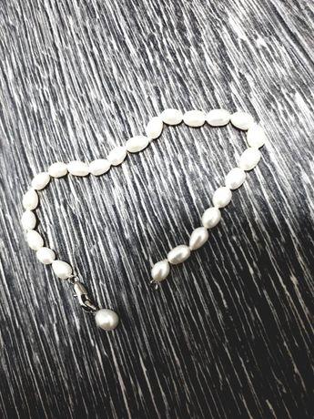 Підвіска срібна перлинка