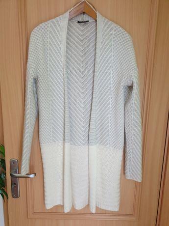 Sweter/Kardigan Janina szaro-biały, rozm. 34