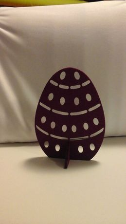 Filc ozdoba jajko ażurowe 15 cm.