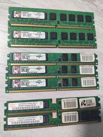 Продам оперативную память. DDR2 1GB hynix / kingston есть 7 шт.