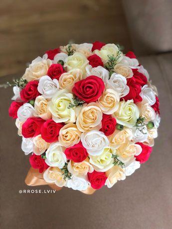 Букет троянд Львів з мила не в'януть як живі найкращий подарунок 2021!