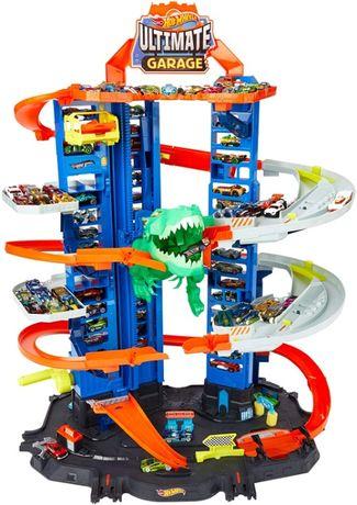 Новый гараж хот вилс Hot Wheels City Robo T-Rex Ultimate Garage