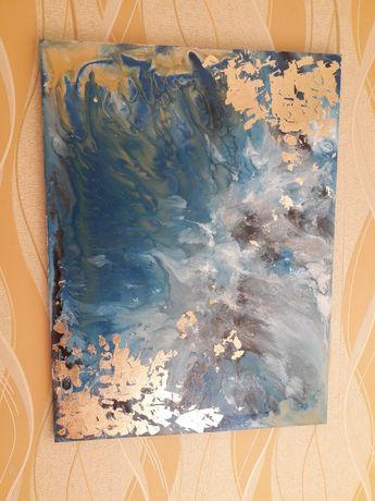 Картина Море Золото Абстракция