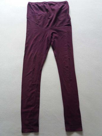 Legginsy ciążowe H&M MAMA roz. M | Leginsy HM kol. fioletowe, śliwkowe