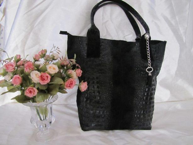Кожаная сумка шопер Gucci пр-во Италия из натуральной кожи+кошелек ,н