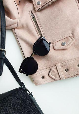 Okulary przeciwsłoneczne nowe lato srebrne wstawki