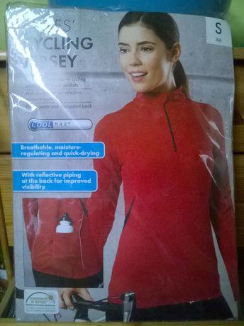 Nowa, nieużywana koszulka damska rowerowa z długim rękawem S/M