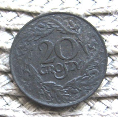 Polska 20 Groszy 1923r--CYNK--Ładna