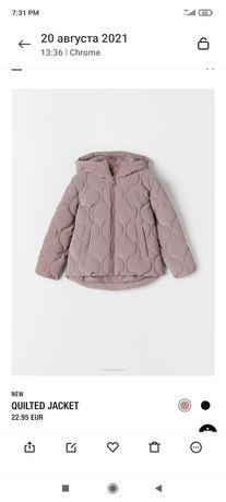 Красивенная новая Деми куртка Zara на девочку 10 лет (140)